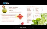 Thiết kế Menu Cafe