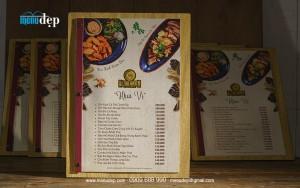 Menu Bìa Gỗ - D1 FOOD GARDEN